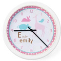 Personalized Girls Animal Clock, Personalized Nursery Decor | Baby Room Decor | ABaby.com