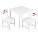 Personalized Aspen White Table and Chair Set, Personalized Table and Chair Sets | Gifts for Toddlers | ABaby.com