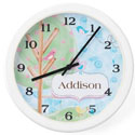 Personalized Birds Clock, Personalized Nursery Decor | Baby Room Decor | ABaby.com