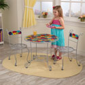 Bistro Table and 2 Chair Set, Children Table And Chair Sets | Toddler Table And Chairs | ABaby.com