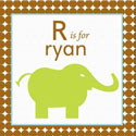 Personalized Boys Animal Canvas Art, Kids Wall Art | Neutral Wall Decor | Kids Art Work | ABaby.com