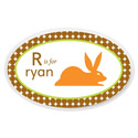 Personalized Boys Animal Oval Plaque