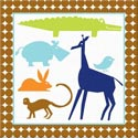 Boys Animal Canvas Art, Kids Wall Art | Neutral Wall Decor | Kids Art Work | ABaby.com
