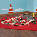 Bucket Top Construction Train Set, Train And Cars Themed Nursery | Train Bedding | ABaby.com