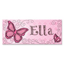 Personalized Rectangle Butterfly Canvas, Wall Letter Decals | Custom Baby Name Letters for Nursery Wall