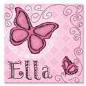 Personalized Butterfly Canvas Art, Girls Wall Art | Artwork For Girls Room | ABaby.com
