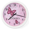 Personalized Butterfly Clock, Personalized Nursery Decor | Baby Room Decor | ABaby.com