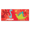 Personalized Rectangle Dinosaur Canvas Art, Personalized Kids Wall Art | Personalized Wall Decor | ABaby.com