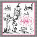 Personalized Toile Canvas Art, Girls Wall Art | Artwork For Girls Room | ABaby.com