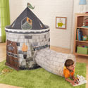 Castle Tent with Tunnel, Outdoor Playhouse | Kids Play Houses | Kids Play Tents | ABaby.com