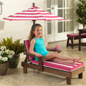 Striped Outdoor Chaise Lounger, Kids & Toddler Chairs| Recliner| Personalized Rocking Chairs| aBaby.com