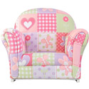 Dollhouse Cottage Upholstered Rocker