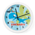Personalized Dino Clock, Personalized Nursery Decor | Baby Room Decor | ABaby.com