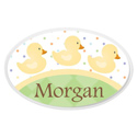 Personalized Ducky Oval Plaque