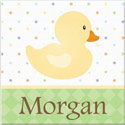 Personalized Ducky Canvas Art, Kids Wall Art | Neutral Wall Decor | Kids Art Work | ABaby.com