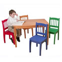 Euro Table and Chair Set, Children Table And Chair Sets | Toddler Table And Chairs | ABaby.com