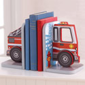 Fire Truck Bookends, Fireman Nursery Decor | Fireman Wall Decals | ABaby.com