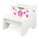 Floral Initial Two Step Stool, Personalized Kids Step Stools | Step Stools for Toddlers | ABaby.com
