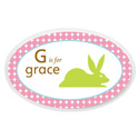 Personalized Girls Animal Oval Plaque, Name Wall Plaques | Baby Name Plaques | Kids Name Plaques