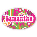 Personalized Groovy Oval Wall Plaque, Name Wall Plaques | Baby Name Plaques | Kids Name Plaques