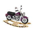 Harley Davidson Girl's Roaring Rocker, Kids Rocking Horse | Personalized Rocking Horses | ABaby.com