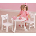 Lil Doll Table and Chair Set, Baby Doll House | Accessories | Doll Furnitutre Sets
