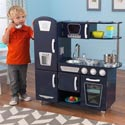 Navy Vintage Kitchen, Kids Play Kitchen Sets | Childrens Play Kitchens | ABaby.com