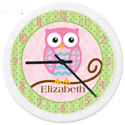 Personalized Owl Clock, Personalized Nursery Decor | Baby Room Decor | ABaby.com