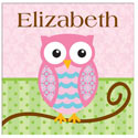 Personalized Owl Canvas Art, Girls Wall Art | Artwork For Girls Room | ABaby.com