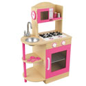 Pink Wooden Kitchen, Kids Play Kitchen Sets | Childrens Play Kitchens | ABaby.com