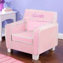 Personalized Pink Laguna Toddler Chair with Slip Cover , Personalized Kids Chairs | Gifts for Toddlers | ABaby.com
