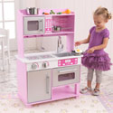 Pink Toddler Kitchen with Accessories, Kids Play Kitchen Sets | Childrens Play Kitchens | ABaby.com