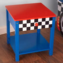 Race Car Side Table, Train And Cars Themed Nursery | Train Bedding | ABaby.com