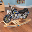 Police Rock'n Motorcycle, Kids Rocking Horse | Personalized Rocking Horses | ABaby.com