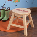 Personalized Rounded Stool, Personalized Kids Step Stools | Step Stools for Toddlers | ABaby.com