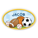 Personalized Sports Oval Plaque, Name Wall Plaques | Baby Name Plaques | Kids Name Plaques