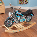 Star Studded Rock'n Motorcycle, Kids Rocking Horse | Personalized Rocking Horses | ABaby.com