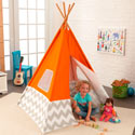 Chevron Teepee, Outdoor Playhouse | Kids Play Houses | Kids Play Tents | ABaby.com
