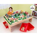 Train Table & 120 Piece Mountain Set, Train And Cars Themed Nursery | Train Bedding | ABaby.com