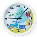 Personalized Train Clock, Train Nursery Decor | Train Wall Decals | ABaby.com