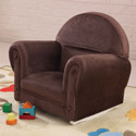 Velour Rocker with Slip Cover, Kids Rocking Chairs | Kids Rocker | Kids Chairs | ABaby.com
