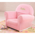 Personalized Velour Rocker, Kids Upholstered Chairs | Personalized Upholstered Chairs | ABaby.com