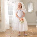 White Rose Bride Dress