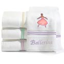 Ballerina Embroidered Bath Towels,