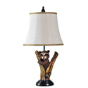 Mossy Oak Raccoon Table Lamp