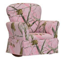 Pink Real Tree Kids Upholstered Rocker, Kids Upholstered Chairs | Personalized Toddler Couch | Rocker | Recliner