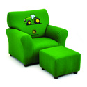 John Deere Club Chair and Ottoman, Kids Upholstered Chairs | Personalized Upholstered Chairs | ABaby.com
