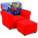 Spider Man Club Chair and Ottoman, Kids Upholstered Chairs | Personalized Upholstered Chairs | ABaby.com