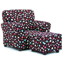 Spirodots Club Chair and Ottoman, Kids Upholstered Chairs | Personalized Upholstered Chairs | ABaby.com