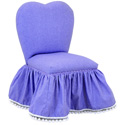 Purple Trimmed Sweetheart Chair, Kids Upholstered Chairs | Personalized Upholstered Chairs | ABaby.com